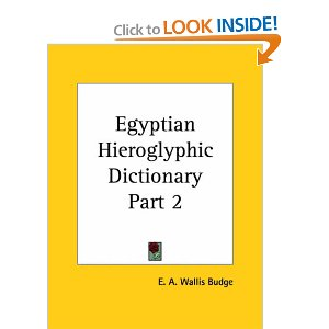 Egyptian Hieroglyphic Dictionary