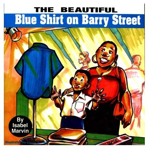 Blue Shirt on Barry Street